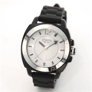 【レディス腕時計】Coach(コーチ) シグネチャーインデックスのブラックラバー・ストラップ・ウオッチ 見えないオシャレ(ベルトの裏側の隠しシグネチャー) 14501353