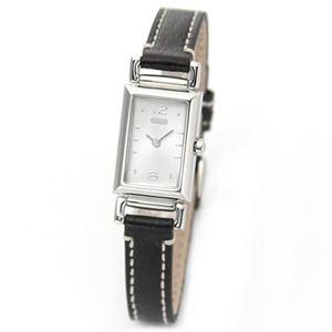 【レディス腕時計】Coach(コーチ) 細身スクエアフェイスの上品なレディス・レザーストラップウオッチ 14501592