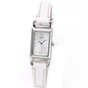 【レディス腕時計】Coach(コーチ) 細身スクエアフェイスの上品なレディス・レザーストラップウオッチ 14501593