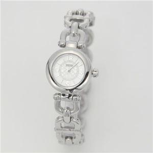 【レディス腕時計】Coach(コーチ) 小振りなラウンドフェイスにシグネチャーダイヤル。ビットモチーフブレスレットのレディスブレスウオッチ。 14501851