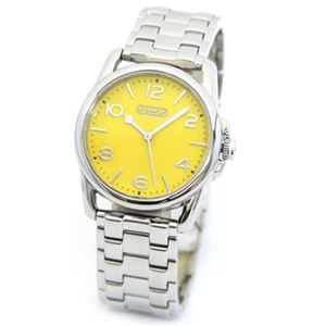 【レディス腕時計】Coach(コーチ) ハイポリッシュ仕上げの耀き POP なカラーダイヤルのレディス・ブレスウオッチ 14501831