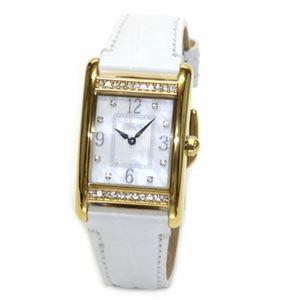【レディス腕時計】Coach(コーチ) ダイヤルにはシェルの輝きとラインストーン ラグジュアリーなレディス・レザーストラップ・ウオッチ 14501717