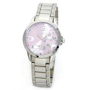 【レディス腕時計】Coach(コーチ) ダイヤルにシグネチャーパターンとラインストーンまとったラグジュアリーなレディス・ウオッチ 14501617
