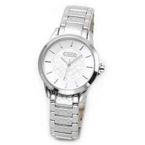 【レディス腕時計】Coach(コーチ) ダイヤルとブレスにシグネチャーパターンをまとったラグジュアリーなレディス・ウオッチ 14501609