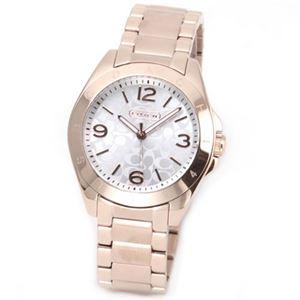 【レディス腕時計】Coach(コーチ) シグネチャーパターンダイヤル。大人カジュアルで上品なキレカワ・レディス腕時計 14501780