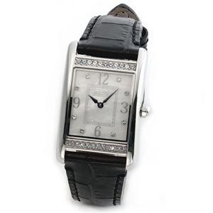 【レディス腕時計】Coach(コーチ) ダイヤルにはシェルの輝きとラインストーン ラグジュアリーなレディス・レザーストラップ・ウオッチ 14501715