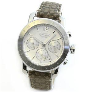 【レディス腕時計】Coach(コーチ) シグネチャーパターンのストラップがキュート。大人カジュアルなキレカワ・マルチカレンダー・レディス腕時計 14501841