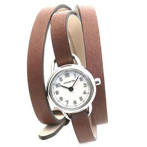 【レディス腕時計】Coach(コーチ) 3 ラップ・ストラップ。小ぶりでフェミニンなレディス腕時計 14501981
