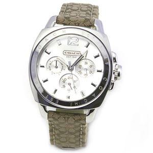 【レディス腕時計】Coach(コーチ) 人気のシグネチャーパターンのストラップ 使いまわしやすいマルチカレンダーウオッチ。 14501218