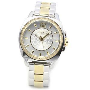 【レディス腕時計】Coach(コーチ) ダイヤルにはラインストーンの輝き。大人カジュアルなちょっと大きめサイズのキレカワ・レディス腕時計 14501306