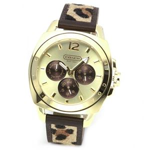 【レディス腕時計】Coach(コーチ) レオパード柄のハラコストラップ ドレッシーなデイデイト・ウオッチ 14501706