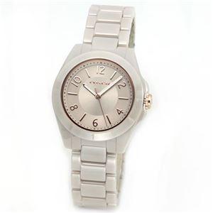 【レディス腕時計】Coach(コーチ) セラミック素材の柔らかな色使い ミルキーベージュの上品なキレカワ・レディス腕時計 14501964