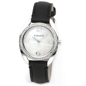 【レディス腕時計】Coach(コーチ) 柔らかな印象のフォルム ラインストーンとシェルダイヤルが眩い、上品な大人カジュアル・レディス腕時計 14502029