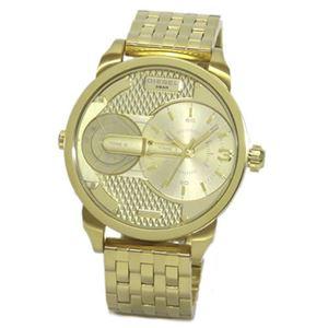 DIESEL(ディーゼル) 腕元を魅了するゴールドの輝き。2Time表示のブレス・ウオッチ DZ7306