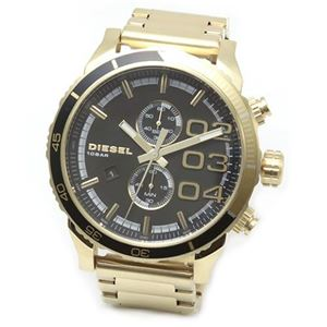 DIESEL(ディーゼル) メンズ 腕時計 人気のデカ系クロノグラフウオッチ 3Time 表示 DZ4337