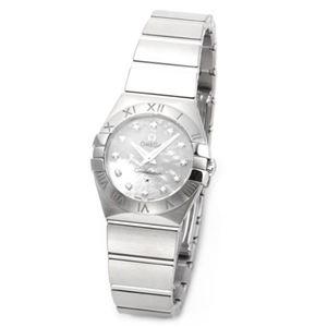 OMEGA(オメガ) CONSTELLATION(コンステレーション) 12 粒のダイヤモンドとシェルダイヤルの輝き、ラグジュアリーなミニサイズのレディス腕時計 123.10.24.60.55.001
