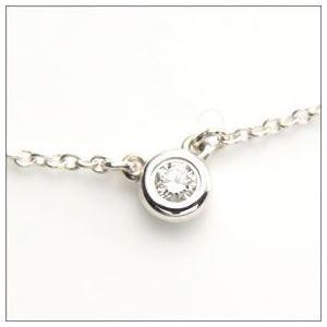 Tiffany(ティファニー) ダイヤモンド バイ ザ ヤード ネックレス ダイヤモンド 0.05ct 16in 24944395 h02