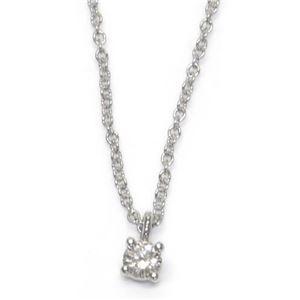 Tiffany(ティファニー) ソリティア ダイヤモンドペンダント/ネックレス 0.12ct 16in PT プラチナ 14001557 - 拡大画像