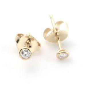 Tiffany(ティファニー) ダイヤモンド バイ ザ ヤード ピアス 0.10ct 18Y 12818653 h01
