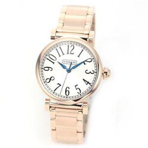 【レディス腕時計】Coach(コーチ) ピンクゴールドカラーの耀きが眩い、見やすい大きめインデックスのドレッシーなレディス・ブレスウオッチ 14501721