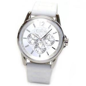 【レディス腕時計】Coach(コーチ) シグネチャーインデックスのドレッシーなデイデイト・ウオッチ、ボーイズサイズなので女子にもお薦め 14501879