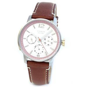 【レディス腕時計】Coach(コーチ) キュートに仕上げたスポーティーテイストのレディス・レザーストラップウオッチ 14501960