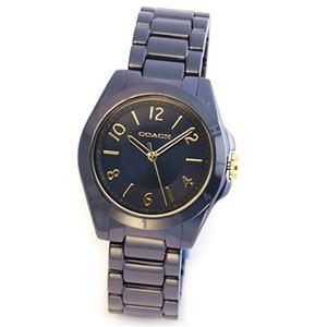 【レディス腕時計】Coach(コーチ) ネイビーカラーにゴールドのアクセント。セラミック素材のキレカワ・レディス・ウオッチ 14501965