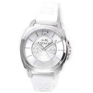 【レディス腕時計】Coach(コーチ) シグネチャーパターンのラバーストラップがキュート。大人カジュアルなキレカワ・レディス腕時計 14502093