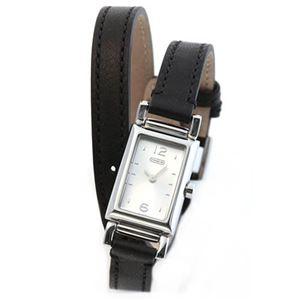 【レディス腕時計】Coach(コーチ) 注目の2 ラップ・ストラップ。ミニスクエア・フォルムのレディス腕時計 14501599