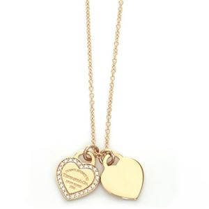 Tiffany(ティファニー) RTT ミニ 2ハート ダイヤモンドペンダント/ネックレス ペンダント 16in 18KRG 28751257 h01