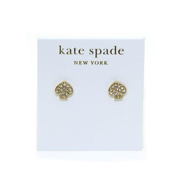 KATE SPADE(ケイトスペード) Signature Spade Crystal Studs スペード型 クリスタル ピアス WBRU2816f00