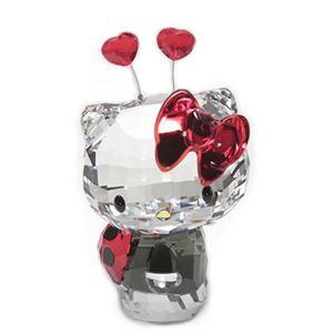 Swarovski(スワロフスキー) Hello Kitty Ladybug ハローキティ 「てんとう虫」 クリスタルフィギュア ライトシャム 1180910 h01