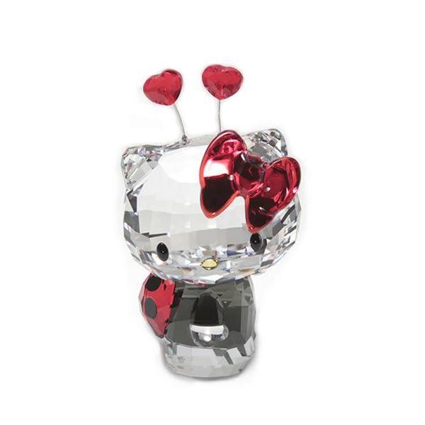 Swarovski(スワロフスキー) Hello Kitty Ladybug ハローキティ 「てんとう虫」 クリスタルフィギュア ライトシャム 1180910f00
