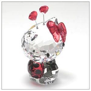 Swarovski(スワロフスキー) Hello Kitty Ladybug ハローキティ 「てんとう虫」 クリスタルフィギュア ライトシャム 1180910 h02