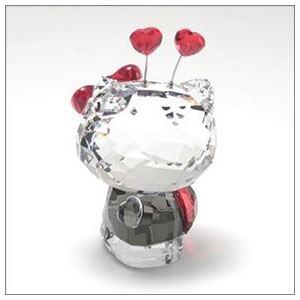 Swarovski(スワロフスキー) Hello Kitty Ladybug ハローキティ 「てんとう虫」 クリスタルフィギュア ライトシャム 1180910 h03