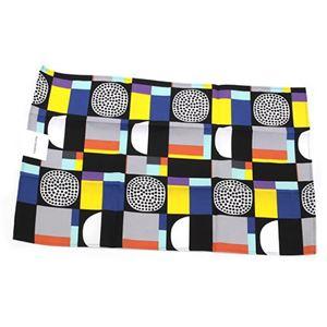 marimekko(マリメッコ) KONTTI TEA TOWEL 67029 921 black/yellow/grey/mint コンッティ 幾何学模様 ティータオル キッチンクロス