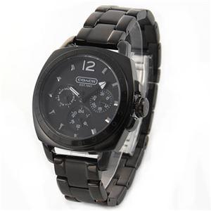 【レディス腕時計】Coach(コーチ) 人気のオールブラック・カラー、レディス・マルチカレンダーウォッチ 14501461