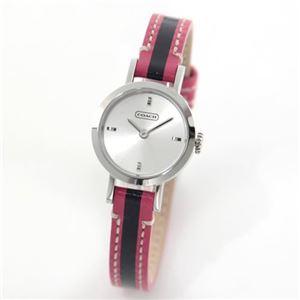 【レディス腕時計】Coach(コーチ) 合わせやすいミニサイズフェイス、ストライプレザーのク- ルエレガンスなレディスウォッチ 14501579