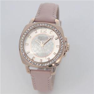 【レディス腕時計】Coach(コーチ) ラインストーンをまとったベゼルにシグネチャーダイヤル ラグジュアリーなレディス・レザーストラップウォッチ 14501753