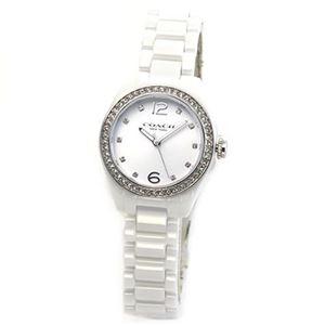 【レディス腕時計】Coach(コーチ) 煌びやかなラインストーンとホワイトシェルダイヤルの輝き ラグジュアリーなレディス腕時計 14502106