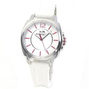 【レディス腕時計】Coach(コーチ) シグネチャーダイヤルにピンクカラーの差し色がキュート ふんわりラバーストラップのレディス腕時計 14502131