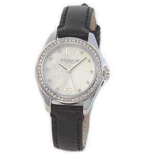 【レディス腕時計】Coach(コーチ) 煌びやかなラインストーンとホワイトシェルダイヤルの輝き ラグジュアリーなレディス腕時計 14502174