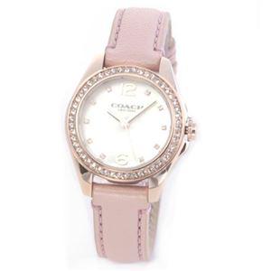 【レディス腕時計】Coach(コーチ) 煌びやかなラインストーンとホワイトシェルダイヤルの輝き ラグジュアリーなレディス腕時計 14502176