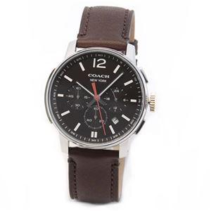 【メンズ腕時計】Coach(コーチ) 上品でシンプルなフォルム 大人カジュアルなメンズ・クロノグラフ腕時計 14601524