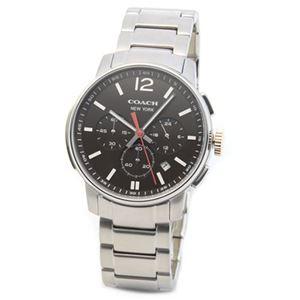 【メンズ腕時計】Coach(コーチ) 上品でシンプルなフォルム 大人カジュアルなメンズ・クロノグラフ腕時計 14601526