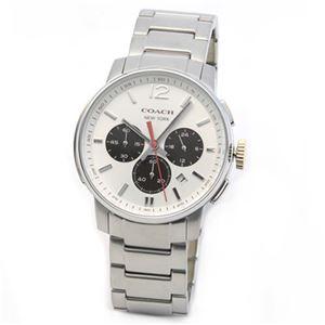 【メンズ腕時計】Coach(コーチ) 上品でシンプルなフォルム 大人カジュアルなメンズ・クロノグラフ腕時計 14601527