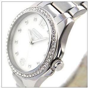 Coach(コーチ) 14501660 煌びやかなラインストーンとホワイトシェルダイヤルの輝き ラグジュアリーなレディス腕時計 h02