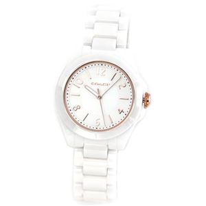 【レディス腕時計】Coach(コーチ) 14501963 ホワイトセラミック素材のレディス腕時計