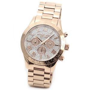 Michael Kors(マイケルコース) 煌びやかなパヴェストーンをまとったラグジュアリーな大きめサイズのレディス腕時計 MK5946 h01