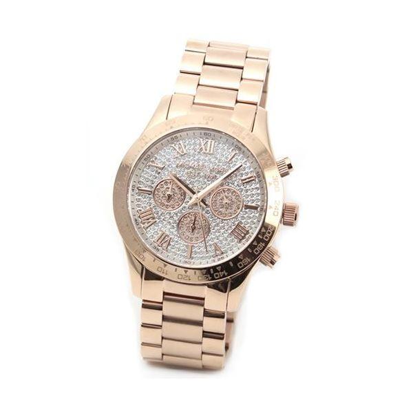Michael Kors(マイケルコース) 煌びやかなパヴェストーンをまとったラグジュアリーな大きめサイズのレディス腕時計 MK5946f00